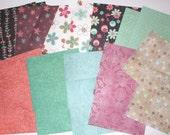 Paper pack 6 x 6 inch destash, floral prints, 20 sheets one side scrapbooking paper