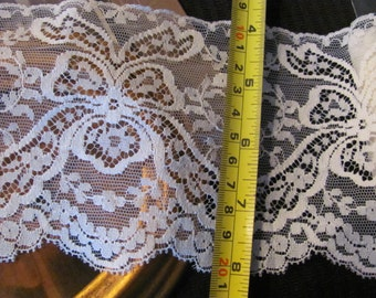 Lace Vintage Ivory Lace Sewing Trim - 4.5 Inches Wide  - 3 Yards #17H