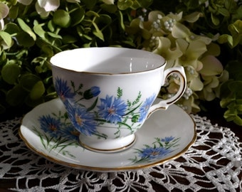Royal Vale Fine Bone China Tea Cup and Saucer, Gold Gilt, England