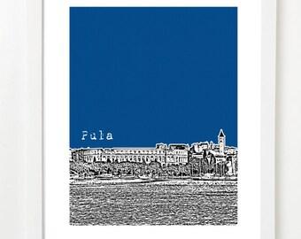 Pula, Croatia Poster - Pula City Skyline Series Art Print - Pula Arena -