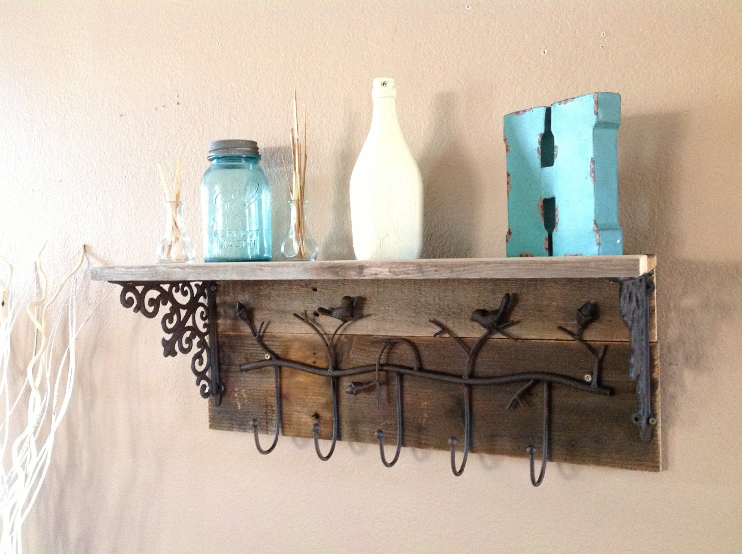 Reclaimed Bird Coat Rack By DelHutsonDesigns On Etsy. Full resolution‎  snapshot, nominally Width 1500 Height 1120 pixels, snapshot with #368895.