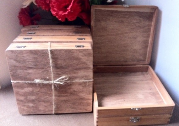 Rustic Groomsmen Gift Wooden Cigar Box By Shabbyweddingdecor