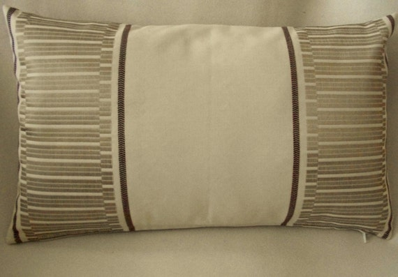 Pillow cover beige and gold 11 x 185 by edwardjohnhomedecor for Beige and gold pillows