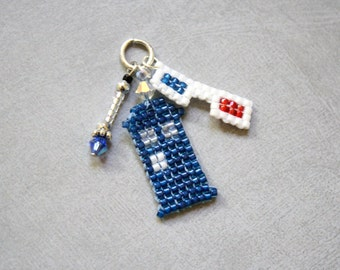 The Tenth Doctor beaded charm