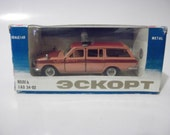 Soviet GAZ Volga Aeroflot Airport Car made in USSR 1:43 scale