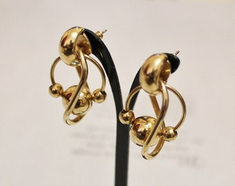 Vintage Gold Dangle Post Earrings
