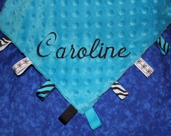 Turquoise and Black Huggable Cuddle Blanket