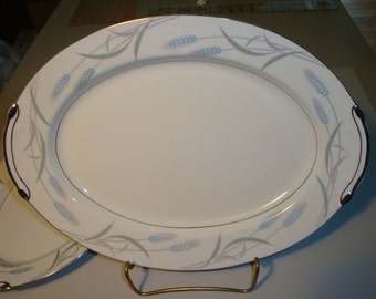 Vintage Valmont China Royal Wheat Pattern 2 Platters