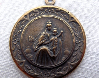 Bronze Our Lady of Mt. Carmel Medal