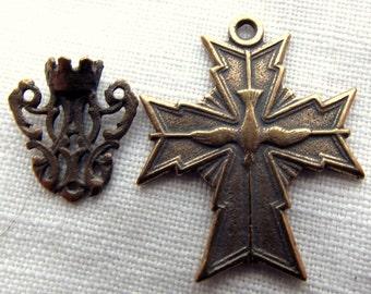 Bronze Holy Ghost Chaplet Medal Set VP877/629