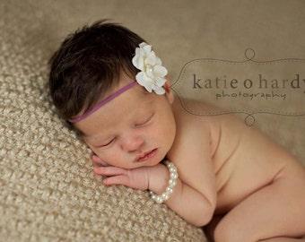 Cream headband..baby girl headband..girls cream headband..newborn headband..