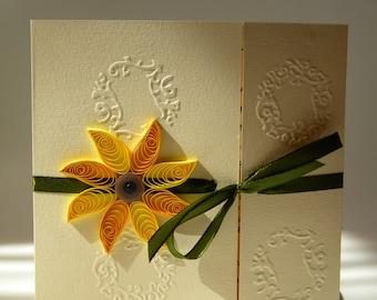 Sunflower wedding invitation / Unique sunflower wedding invitation