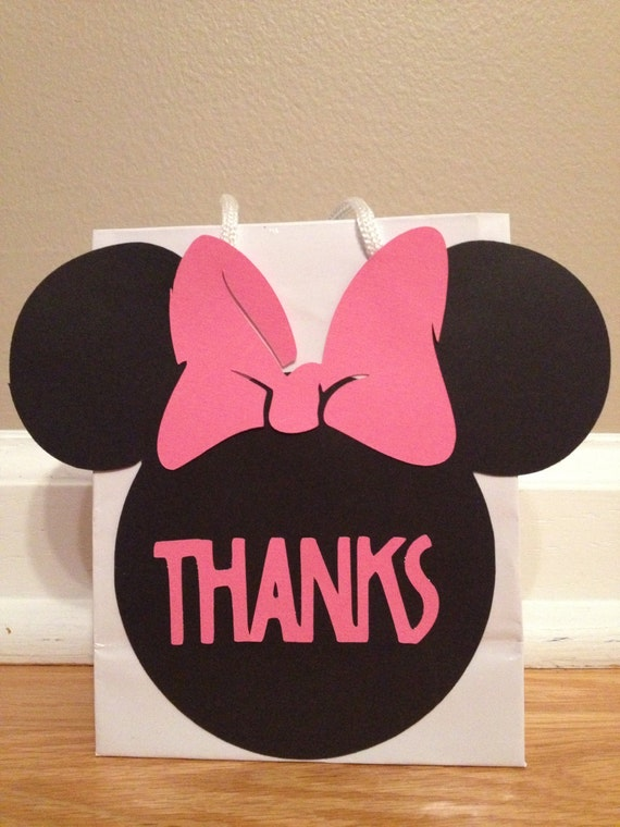 Custom Order - Mickey Mouse Mini Thank You Gift Bags - Set of 11 plus 14 decorations