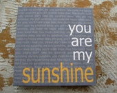 You Are My Sunshine, 12x12, Canvas