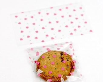 heart little cookies bags (10 bags)