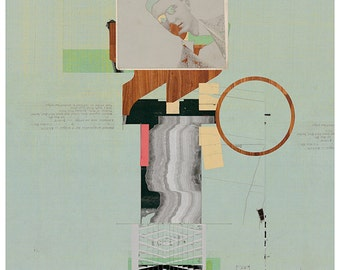 Abstract collage, Abstract composition 58