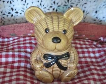 Honey Bear, Bear for Honey, Bear Honey Jar, Honey Storage, Vintage Kitchen, Country Kitchen, Farm House Kitchen, Vintage Home Decor, Bear )*