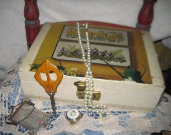 Jewelry Box  with Spring Top put on it :)