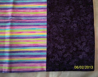 Purple Stripe Pillow Case