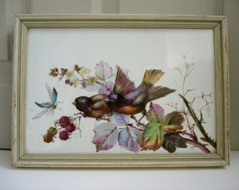 Vintage Bird Painting - Beautifully Hand Painted Tile