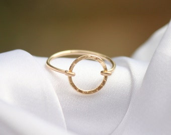 Karma Ring - 14k gold filled circle ring, karma ring , Eternity Circle Ring, simple gold ring,handmade jewelry, gift for her