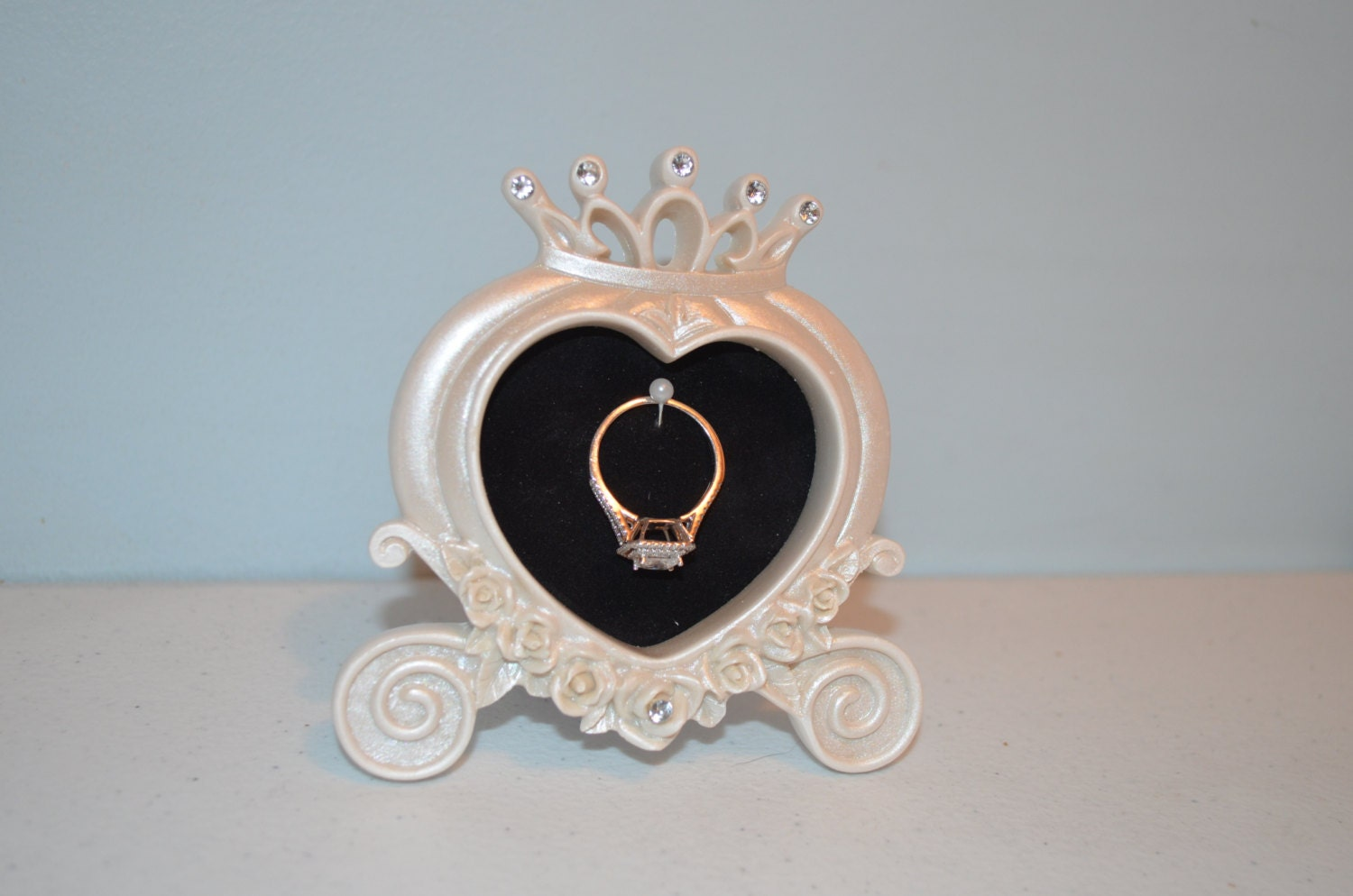 Cinderella Engagement Amp Wedding Ring Picture Frame By
