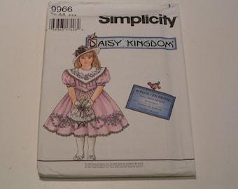 Simplicity Pattern Daisy Kingdom 9966 Child Dress and Doll Dress