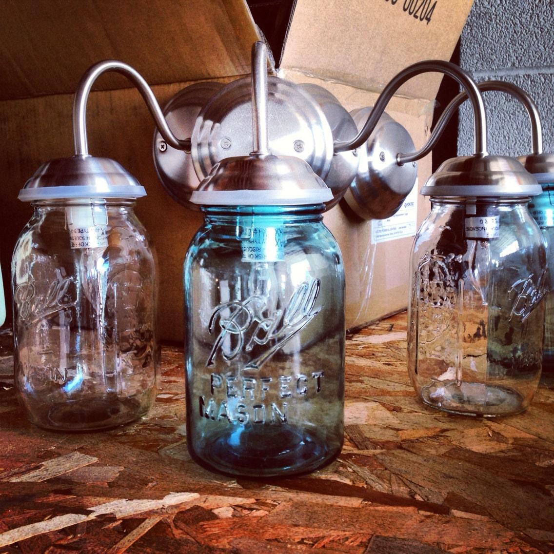 Mason Jar Wall Sconce Etsy : Mason Jar Wall Sconce Mason jar light by VanVintageDesign on Etsy
