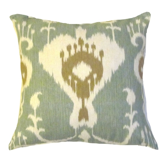 Ikat Pillow Blue Pillow Covers Modern Pillow Cover Throw