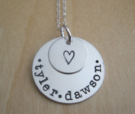 Personalized Mothers Necklace / Grandma Necklace - Hand Stamped Name Necklace - LAYERS OF LOVE