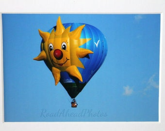 5x7 photo of yellow sun hot air balloon: Balloon Fiesta, NM