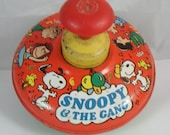 Vintage 1966 Snoopy and the Gang Spinning Top