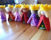 King and Queen Waldorf Peg Doll, Fairy Tale Miniatures, Story Time Dolls, Art Doll