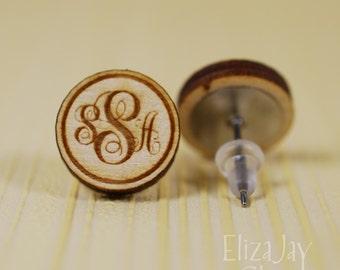 fancy monogram personalized (itty bitty post earrings)