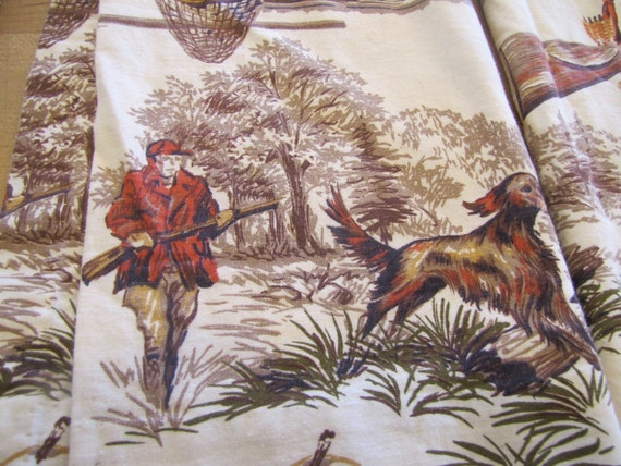 Vintage Camp Curtains Hunting Fabric Camp Decor Camp