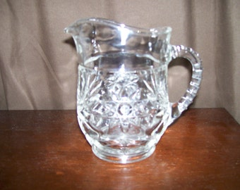 Vintage Early American Prescut (Star of David) 18 oz. Pitcher