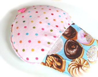 Flax Heating Pad, Blue, Pink, Doughnut Cupcake Heating Pad, Cramp Cake Aromatherapy Heat Pack
