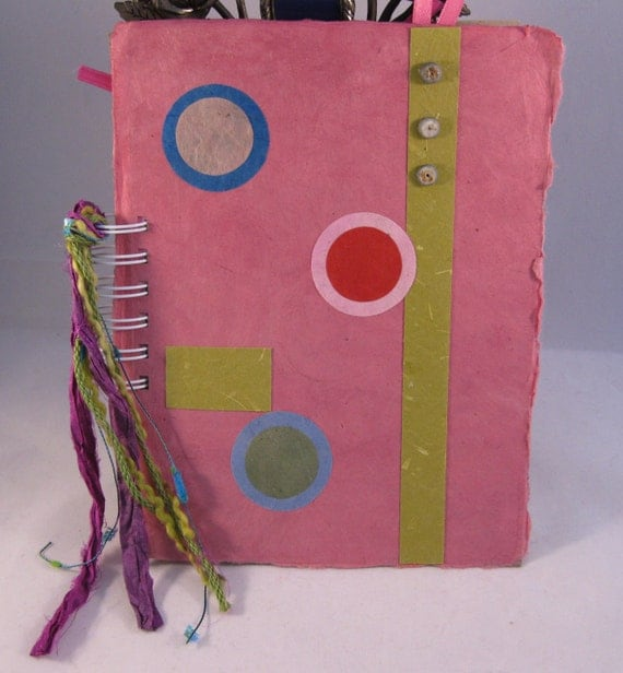"Art Journal, Smash Book or Junk Journal-""Pretty in Pink"""