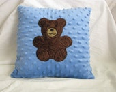 Reserved for Melda Collins  2 Small Green Minky Dot Pillow with Giraffe Applique