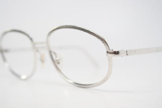 Vintage Silver Eyeglass Frames : Vintage Eyeglasses Silver vintage eyewear NOS by PinceNezShop