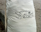 Laundry Bag by Bolinas Folk Art in Natural White Cotton