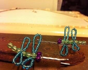 Dragonfly Hair Pins