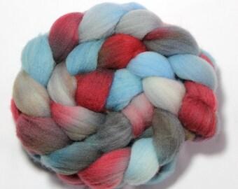 Handpainted Roving - Maine Dock - Falkland Wool, 4 ounces