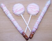 Double Stuff Oreo Cookies On a Stick Covered in Chocolate AND Chocolate Covered Pretzel Rods Party Favors