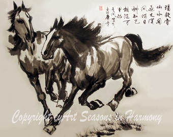 "Chinese Brush Painting: ""Companionship"""