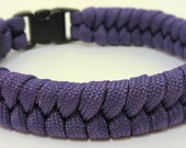 Survival Bracelet made from 550lb breaking strain Purple Paracord