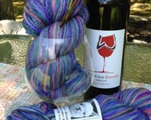 "100% Baby Alpaca Hand Painted yarn DK, weight  ""Royal"" 200 Yds"