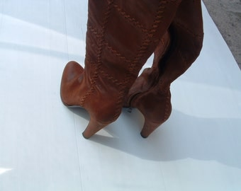 free shipping PRADA boots size 39 1/2 made in Italy circa 1990's