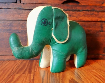 Vintage toy elephant, Oilcloth, 1950s