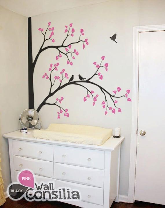Baum wall decal aufkleber kinderzimmer wandgestaltung baum - Baum kinderzimmer ...